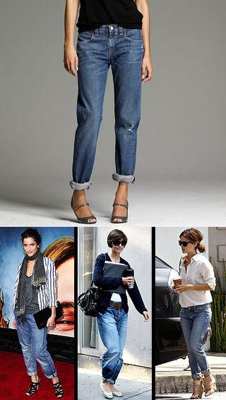 Загнутые джинсы модно или нет